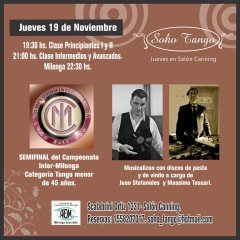 1° CIM Tango Championship, semifinals with vinyl records and 78 rpm