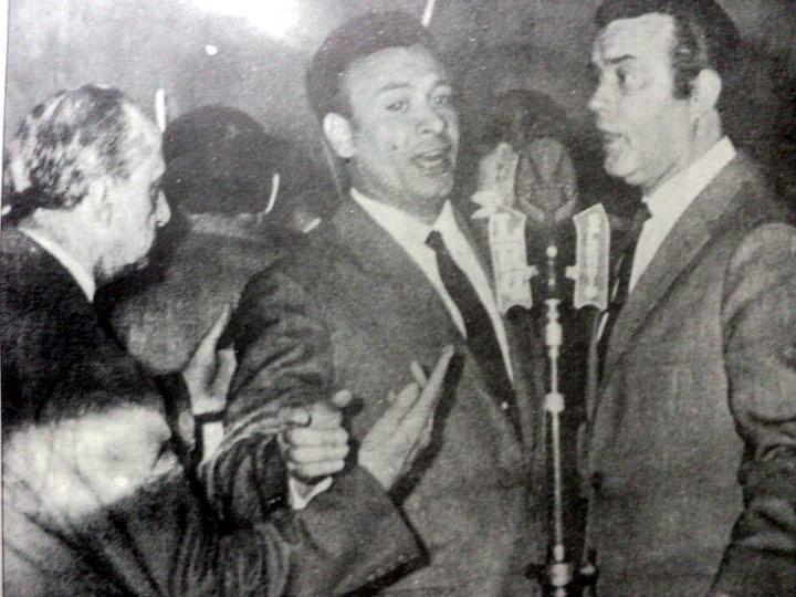 Juan D'Arienzo, Osvaldo Ramos and Armando Laborde on Radio Splendid