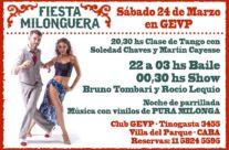 24 Marzo Festa Milonguera nel Club G.E.V.P.