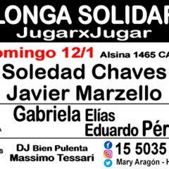 Domenica 12 Gennaio Milonga Solidaria JugarxJugar c/o La Nacional Milonga